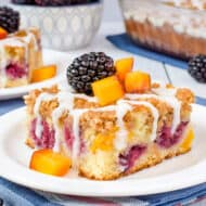 Peach Blackberry Coffee Cake Recipe