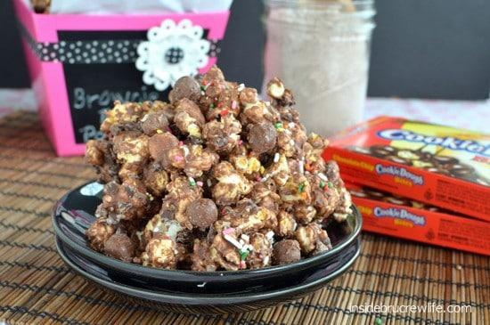 Brownie Batter Cookie Dough Popcorn