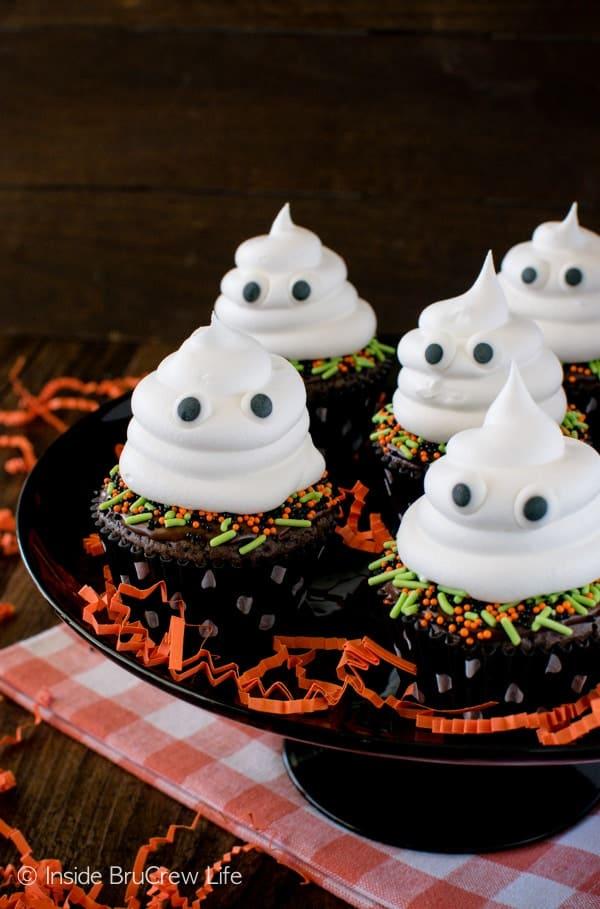 Ghost Brownie Cupcakes