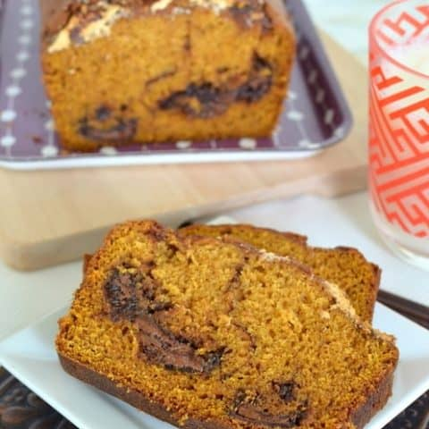Nutella Marshmallow Pumpkin Bread