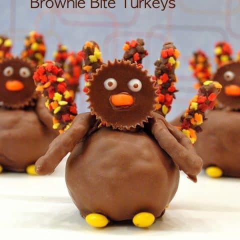 Reese's Brownie Bite Turkeys