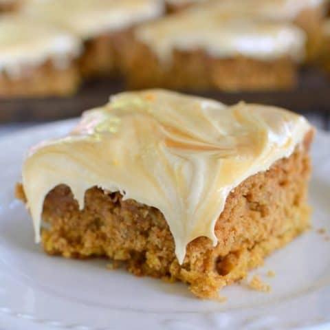 Salted Caramel Pumpkin Oatmeal Cake
