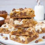 S'mores Swirled Blondies Recipe