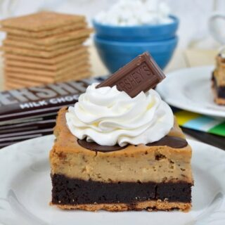 Toasted Marshmallow Cheesecake Brownies