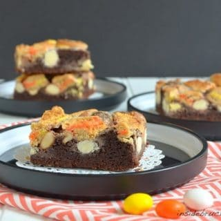 Candy Corn Gooey Cake Bars