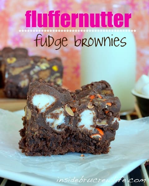 Fluffernutter Fudge Brownies