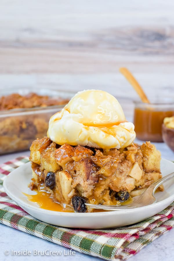 Easy Apple Bread Pudding Inside Brucrew Life