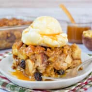 Easy Apple Bread Pudding