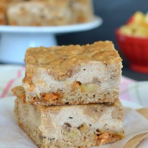 Butterscotch Apple Cheesecake Cookie Bars