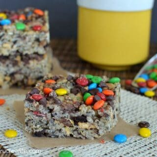 Monster Cookie Rice Krispie Treats