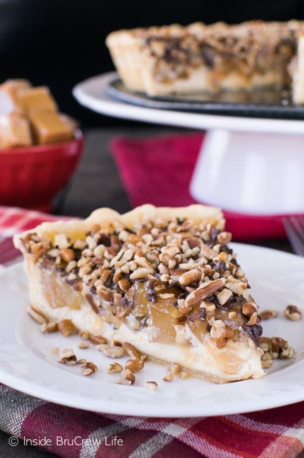 Apple Turtle Cheesecake Tart
