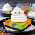 Halloween Swirled Cheesecake Bars Recipe