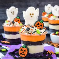 No Bake Halloween Cheesecake Parfaits Recipe