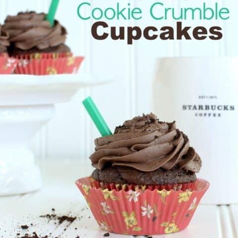 Mocha Cookie Crumble Cupcakes