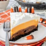 No Bake Halloween Oreo Cream Pie