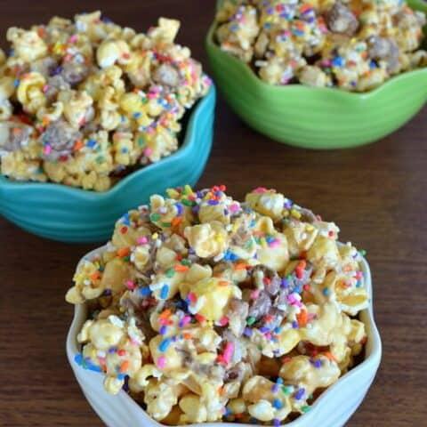 Peanut Butter Candy Bar Popcorn