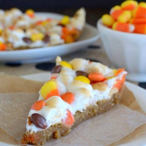 Peanut Butter Candy Corn Pizza