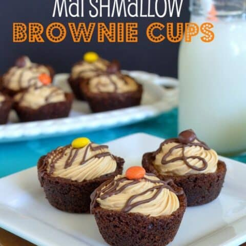 Peanut Butter Marshmallow Brownie Cups Recipe