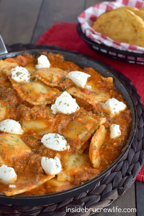 Easy Skillet Lasagna Ravioli