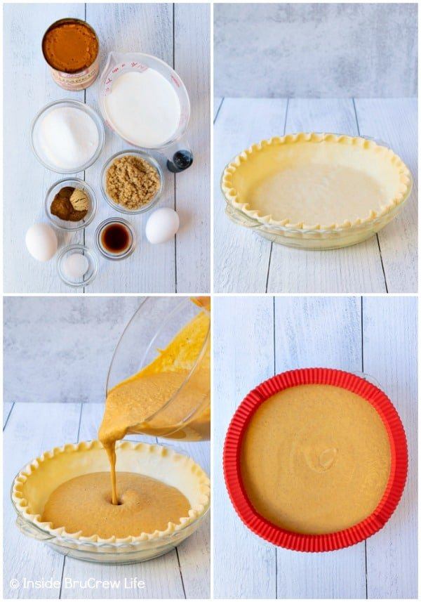 Easy Traditional Pumpkin Pie - making a homemade pumpkin pie is easy to do. Great recipe to make for Thanksgiving dinner. #pie #pumpkin #traditionalpumpkinpie #easyrecipe #piecrustcookies