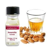 LorAnn Super Strength Amaretto Flavor, 1 dram bottle (.0125 fl oz - 3.7ml)