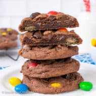 M&M Nutella Pudding Cookies