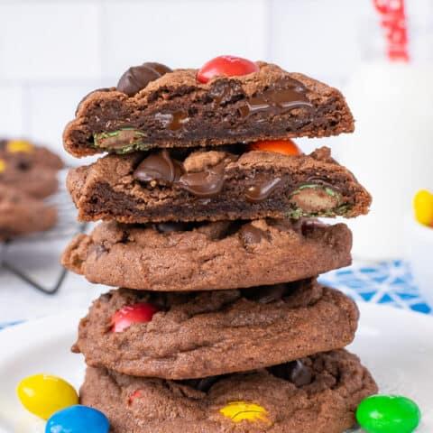 M&M Nutella Pudding Cookies