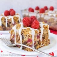 Chocolate Chip Raspberry Banana Coffee Cake