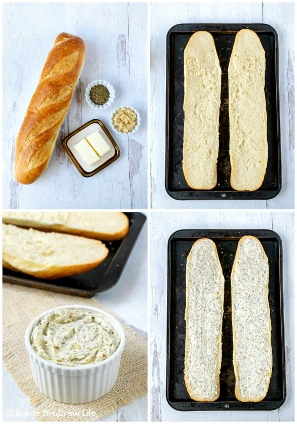 Easy Garlic Herb Bread - making your own garlic bread at home is easy with just a few ingredients