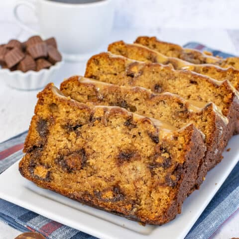Peanut Butter Cup Banana Bread
