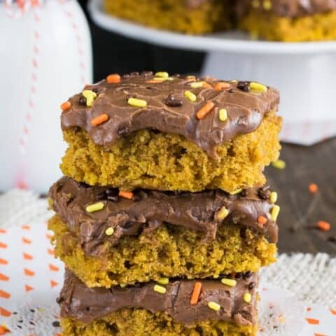 Pumpkin Nutella Oatmeal Bars