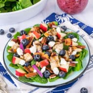 Blueberry Apple Spinach Salad