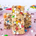 No Bake M&M Granola Bars