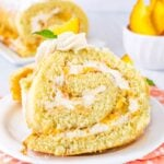 Peaches and Cream Cake Roll