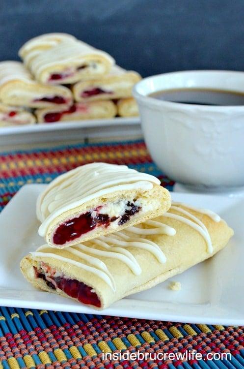 Raspberry Chocolate Chip Cheesecake Rolls