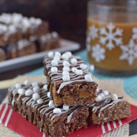 Salted Caramel Hot Chocolate Granola Bars