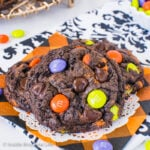 Halloween Chocolate Cookies and Cream Cookies