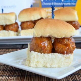 Cheddar Jack & Bacon Meatball Sliders Recipe