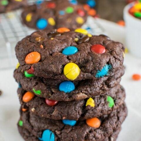 Chocolate M&M Candy Cookies Recipe