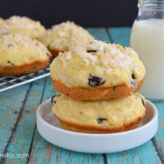 Coconut Chocolate Chunk Muffin Tops