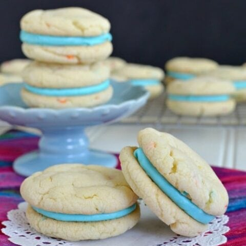 Cotton Candy Whoopie Pies