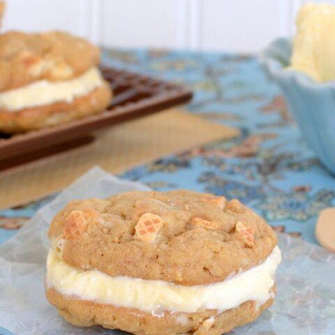 Peanut Butter Kit Kat Ice Cream Sandwiches