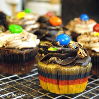 Peanut M&M Cupcakes Recipe