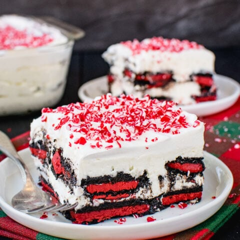 Peppermint Oreo Icebox Cake