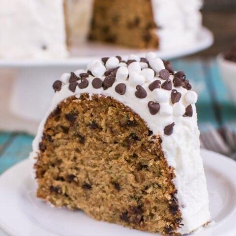 Zucchini S'mores Bundt Cake