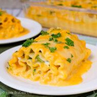 Cheddar Broccoli Chicken Lasagna Roll Ups